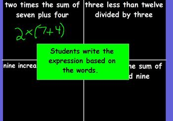 Reading and Writing Expressions