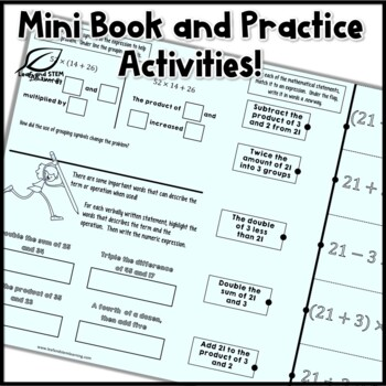 Reading and Writing Expressions Interactive Notebook Set