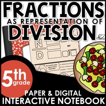 Fractions as a Representation of Division Interactive Notebook Set