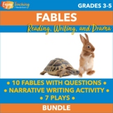 Fables Unit Bundle - Passages, Questions, Plays, Writing Project, and More