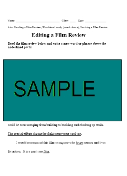 Reading and Writing Film Reviews