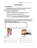 Reading and Writing French Descriptions Worksheet