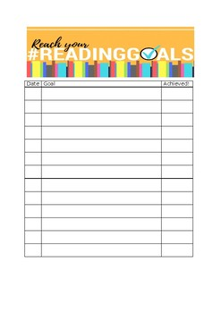 Reading and Writing Goal Setting for Individual Students