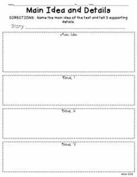 Reading and Writing Graphic Organizer Packet