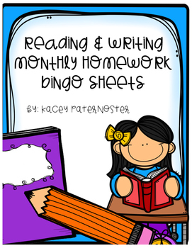 Reading and Writing Homework for the year!