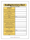 Reading and Writing Inventories Secondary ELA