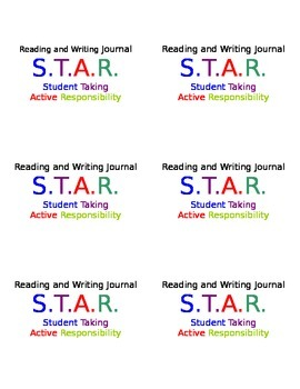Reading and Writing Journal Labels