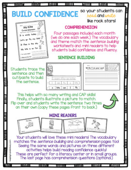 Reading Passages With Comprehension Questions - Writing Sentences -  BUNDLE