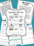 Reading and Writing Menu