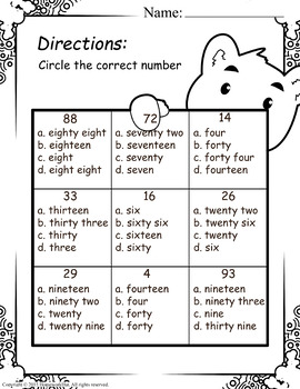 Reading and Writing Numbers Worksheets