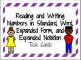 Reading and Writing Numbers- Including Decimals Task Cards