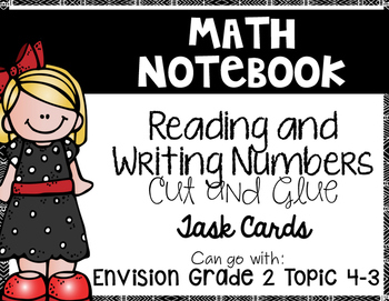 Reading and Writing Numbers Math Notebook {Goes with Envision 2nd Grade 4-3}
