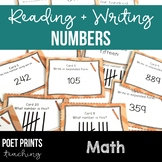 Reading and Writing Numbers, Task Cards, Math Center