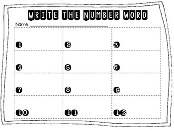 Reading and Writing Numbers Write the Number Word Tiny Task Cards