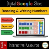 Reading and Writing Numbers in Expanded, Standard and Word Form - Google slides