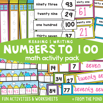 Reading and Writing Numbers to 100 - Math Activities Pack