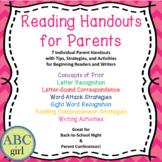 Reading & Writing Parent Handout