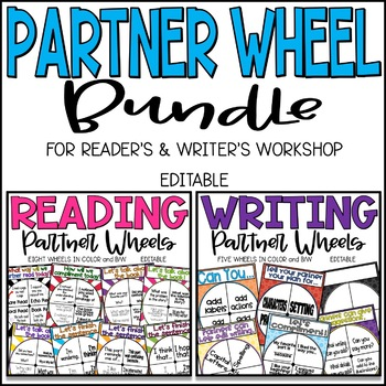 Reading and Writing Partner Wheel Bundle - Editable!