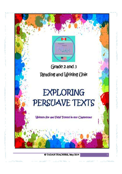 Reading and Writing Persuasive Texts - Grade 2 and 3