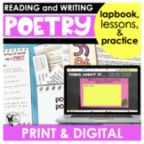 Poetry Unit | Reading and Writing | PRINT and DIGITAL
