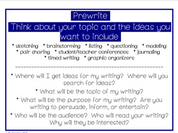 Reading and Writing Posters and Bookmarks **BUNDLE**