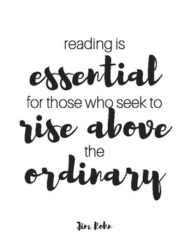 Reading and Writing Printable Quotes B/W