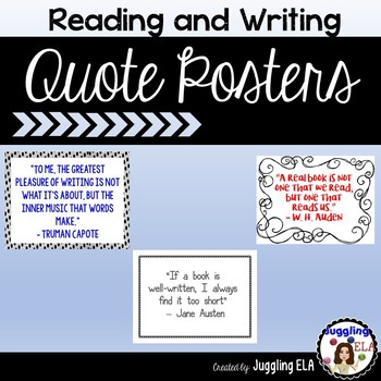 Reading and Writing Quote Posters