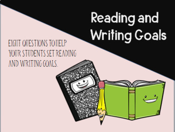 Reading and Writing-Reflection and Goal Planning Sheet