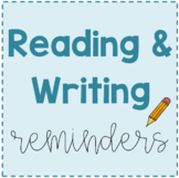 Reading and Writing Reminders *Editable*