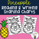 Reading and Writing Stamina Posters - Pineapple