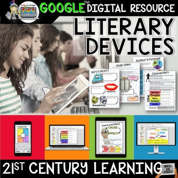 LITERARY DEVICES ACTIVITIES PAPERLESS DIGITAL NOTEBOOK FOR GOOGLE DRIVE