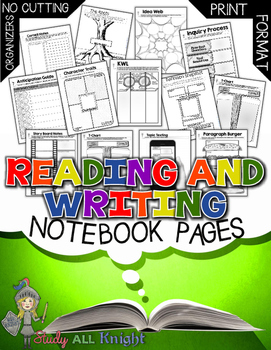READING AND WRITING STRATEGIES NOTEBOOK PAGES FOR ALL SUBJECTS
