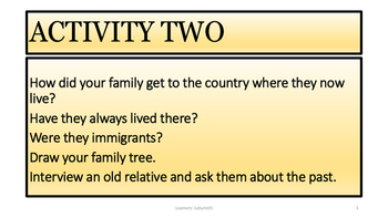 Reading and Writing- They Came to America Worksheets