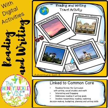 Reading and Writing Travel Activity Adventure Set 4