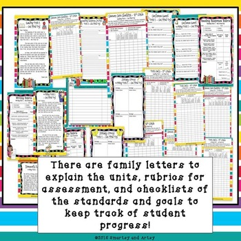 Reading and Writing Unit 1 BUNDLE Get Fired Up Lessons Charts and More