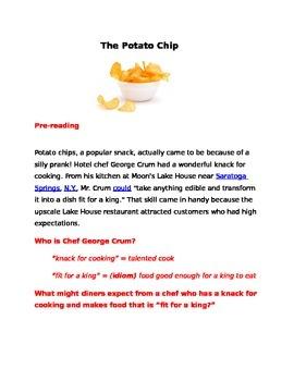 Reading and Writing Unit (Potato Chip)