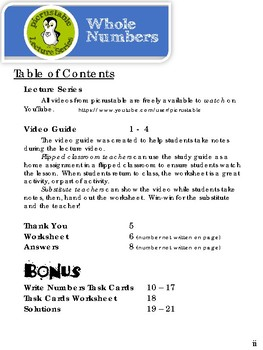 Reading and Writing Whole Numbers