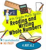 Reading and Writing Whole Numbers, 4th Grade Math Skills, Common Core 4.NBT.A.2