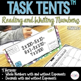 Reading and Writing Whole Numbers and Decimals Task Tents™ {5.NBT.3a}