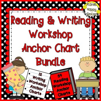 Reading and Writing Workshop Anchor Chart Bundle #resourceswelove