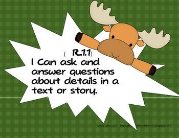 Reading and Writing Workshop Calendar/Rubrics Moose Theme First 9 weeks