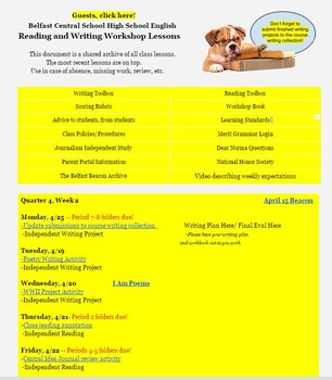 Reading and Writing Workshop, High School
