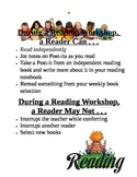 Reading and Writing Workshop Rules