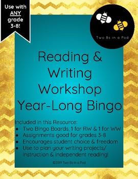 Reading and Writing Workshop Year-Long Bingo Board