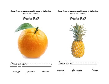 Reading and Writing about Fruit