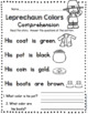 St. Patrick's Day in Kindergarten - Comprehension - Fluency - Sentences MARCH