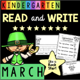 St. Patrick's Day in Kindergarten - Comprehension - Fluency - Sentences MARCH