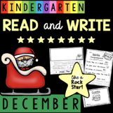 Reading Comprehension and Writing in Kindergarten - December - Christmas