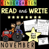 Reading and Writing in Kindergarten - November - Thanksgiving - Comprehension