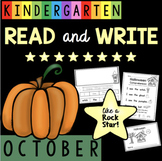 Reading and Writing in Kindergarten - October - Halloween - Sight Words